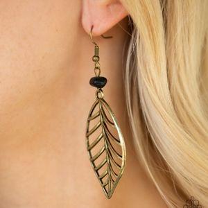 """Bough Out"" - Brass Leaf Earrings"